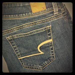 AEO Stretch Slim Boot Jeans 🤩